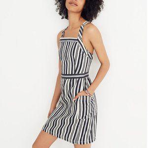NWT Madewell Apron Mini Dress in Evelyn Stripe